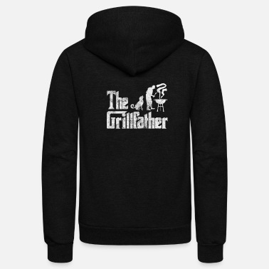 Grill Party Grillfather Funny Grill Party Grilling Summer Gift - Unisex Fleece Zip Hoodie
