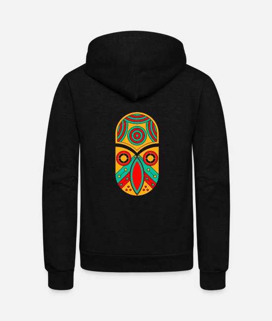 Aztec Hoodies & Sweatshirts - ornamental aztec - Unisex Fleece Zip Hoodie black
