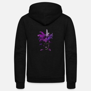 Lilac lilac face - Unisex Fleece Zip Hoodie