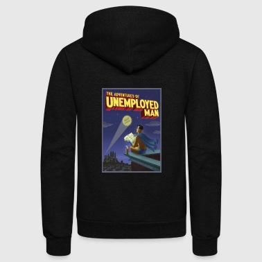 The Adventure of Unemployed Man - Unisex Fleece Zip Hoodie
