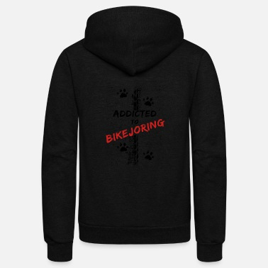 Addicted to BIKEJORING - Unisex Fleece Zip Hoodie