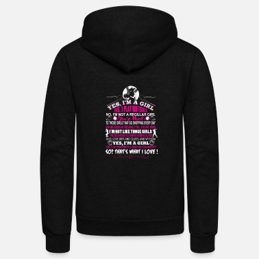 I Love Softball Softball - I'm a girl and I play softball - Unisex Fleece Zip Hoodie