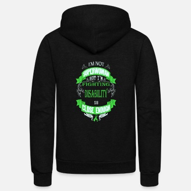 Disability Disability - Fighting disability like superwoman - Unisex Fleece Zip Hoodie