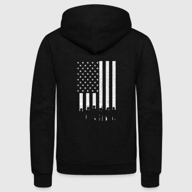 Troops Support Our Troops - Support Our Troops - red sh - Unisex Fleece Zip Hoodie