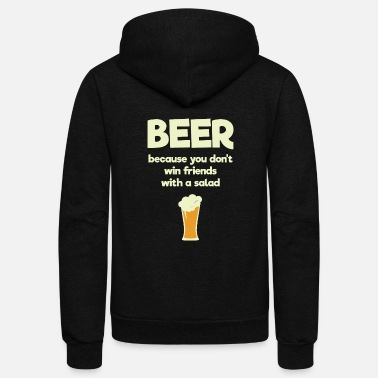 I Love You More Than Air Racing Men - beer because you don't win friends with a - Unisex Fleece Zip Hoodie