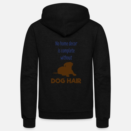 Dog Hoodies & Sweatshirts - Dog Lovers - Unisex Fleece Zip Hoodie black