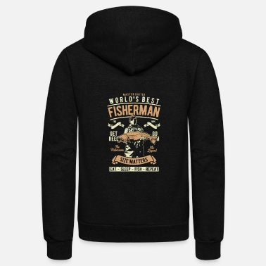 Fisherman Best Fisherman - Unisex Fleece Zip Hoodie
