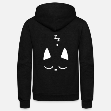 Sleeping sleeping cat - Unisex Fleece Zip Hoodie
