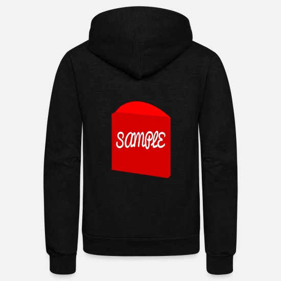 Sample Hoodies & Sweatshirts - sample - Unisex Fleece Zip Hoodie black