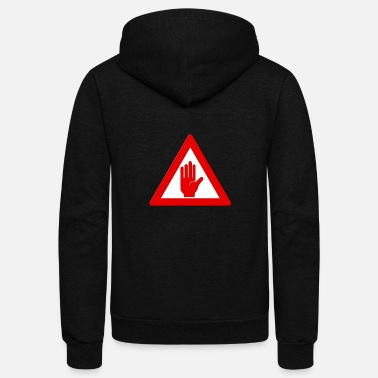 Stop Sign Stop Sign - Unisex Fleece Zip Hoodie