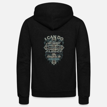 Ugly Christmas Christ - Christ - i can do all things through ch - Unisex Fleece Zip Hoodie