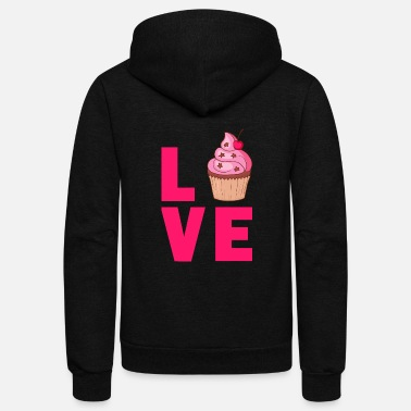 Cupcake Cupcake Muffin Bakery Cake Candy Sweets Cookie - Unisex Fleece Zip Hoodie