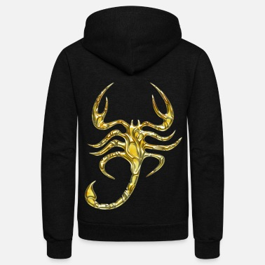 Gold Scorpion gold - Unisex Fleece Zip Hoodie