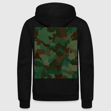 Camo Rectangle - Unisex Fleece Zip Hoodie