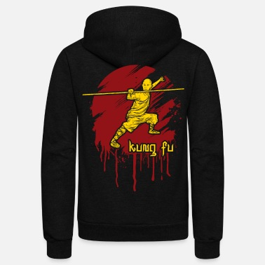 Staff Kung Fu Bo Staff Martial Arts - Unisex Fleece Zip Hoodie