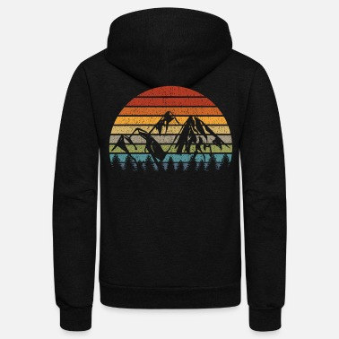Alps Mountain Mountains Alps Hiking Climbing Nature - Unisex Fleece Zip Hoodie