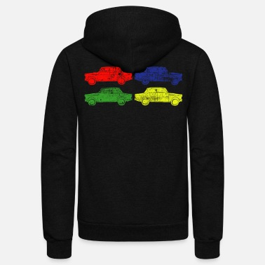 Retro Car Retro Car - Unisex Fleece Zip Hoodie