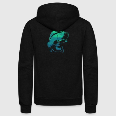 Bass Bass Fishing - Unisex Fleece Zip Hoodie