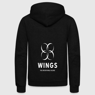 BTS Wings - Unisex Fleece Zip Hoodie