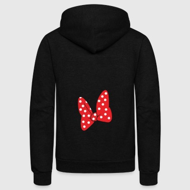 Minnie Bow - Unisex Fleece Zip Hoodie