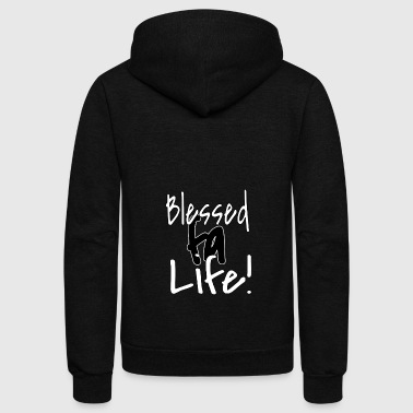 Blessed Life Blessed Fa Life - Unisex Fleece Zip Hoodie