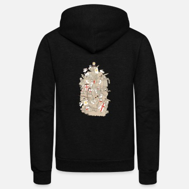 Rodent BAD TEMPERED RODENTS - Unisex Fleece Zip Hoodie