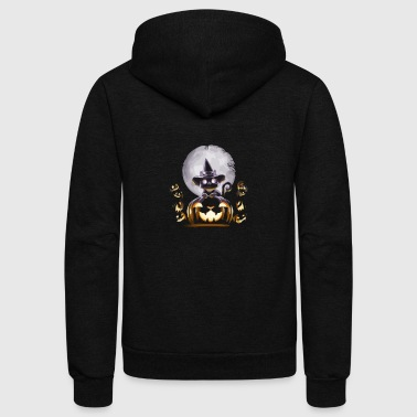 WITCH CAT NIGHT - Unisex Fleece Zip Hoodie