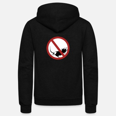 Stop Sign No Stopping Sign - Unisex Fleece Zip Hoodie