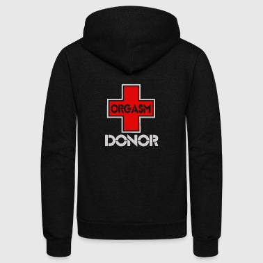 New Design Orgasm donor funny rude explicit - Unisex Fleece Zip Hoodie