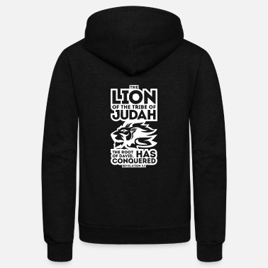Tribe New Design The Lion of the tribe of Judah the root - Unisex Fleece Zip Hoodie