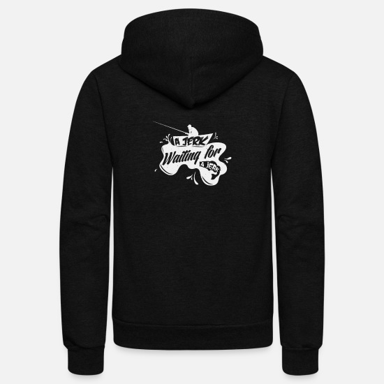 Pop Art Hoodies & Sweatshirts - New Design A Jerk Waiting For A Jerk Best Seller - Unisex Fleece Zip Hoodie black