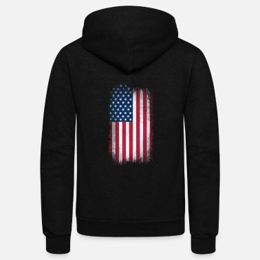 Us Flag US Flag - Unisex Fleece Zip Hoodie