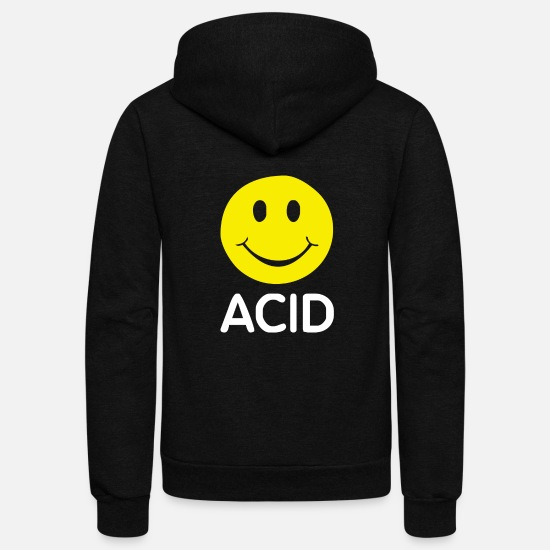 Acid Hoodies & Sweatshirts - ACID HOUSE SMILEY - Unisex Fleece Zip Hoodie black