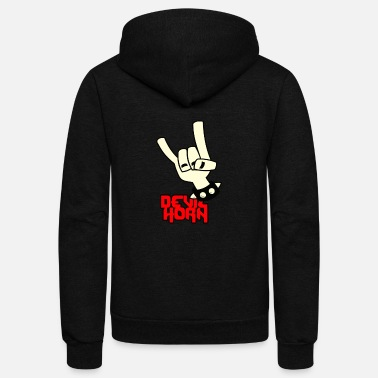 Devil Horns Devil horn - Unisex Fleece Zip Hoodie