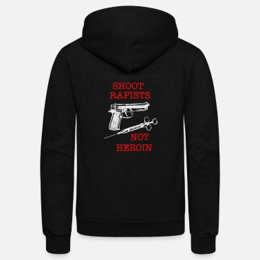 Heroin Shoot Rapists ~ Not Heroin - Unisex Fleece Zip Hoodie