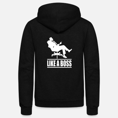 Like A Boss Like A Boss - Unisex Fleece Zip Hoodie