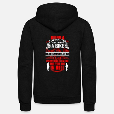 Bad Fire Fighter - Unisex Fleece Zip Hoodie