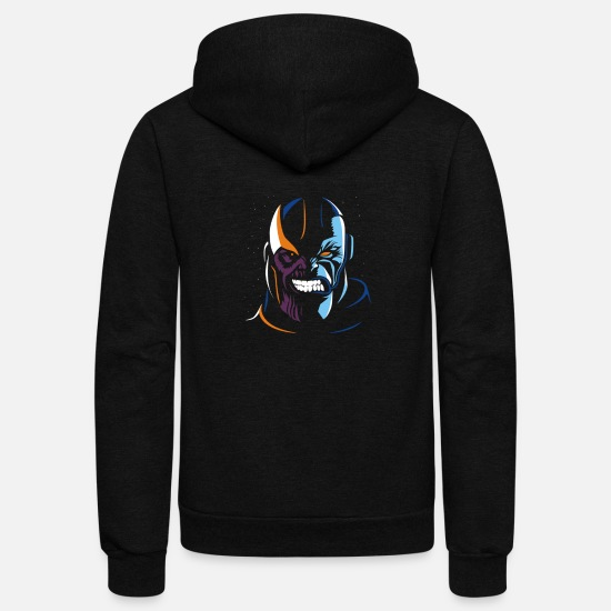 Apocalypse Hoodies & Sweatshirts - Thanos vs Apocalypse - Unisex Fleece Zip Hoodie black