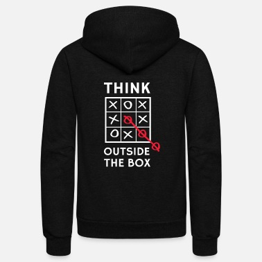 Tac Think Outside the box - Think Outside the Box (T - Unisex Fleece Zip Hoodie