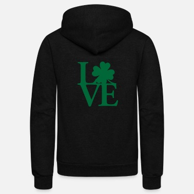 I Love Ireland I Love Ireland - Unisex Fleece Zip Hoodie