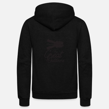 The Great Outdoors with Mountain reflection - Unisex Fleece Zip Hoodie