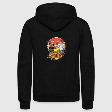 Sweep the Leg - Unisex Fleece Zip Hoodie