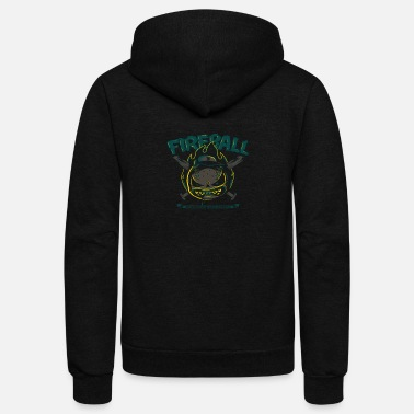 Fire Ball fire ball - Unisex Fleece Zip Hoodie