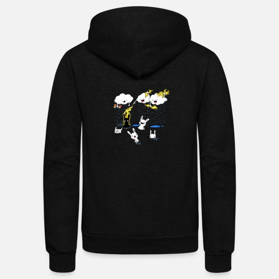 Cloudy Hoodies & Sweatshirts - Cloudy with a Chance of Jerks - Unisex Fleece Zip Hoodie black