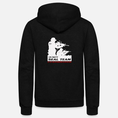 Navy Seals Seal Team US Navy - Unisex Fleece Zip Hoodie