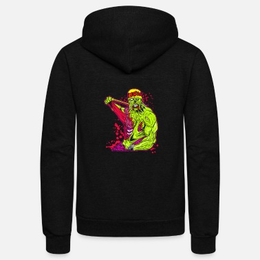 Mc MC DEATH BEAR - Unisex Fleece Zip Hoodie