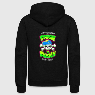 fresh to death skull - Unisex Fleece Zip Hoodie