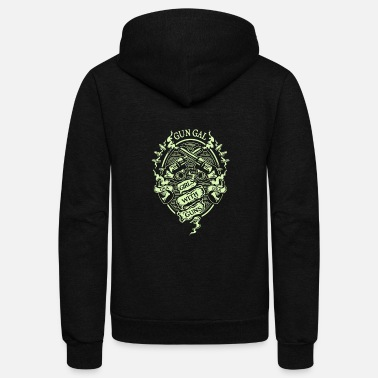 Gun Girl Gun gal girls with guns - Unisex Fleece Zip Hoodie