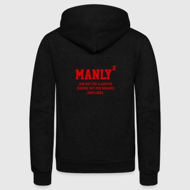 MANLY SQUARED - Unisex Fleece Zip Hoodie