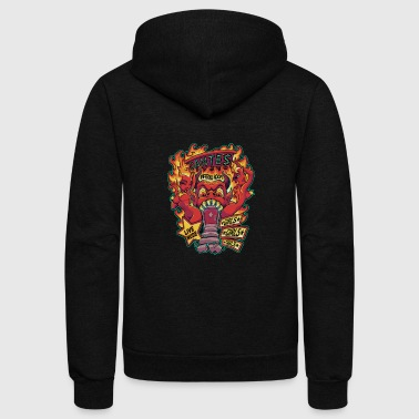 Devil Dante s Inferno Room - Unisex Fleece Zip Hoodie